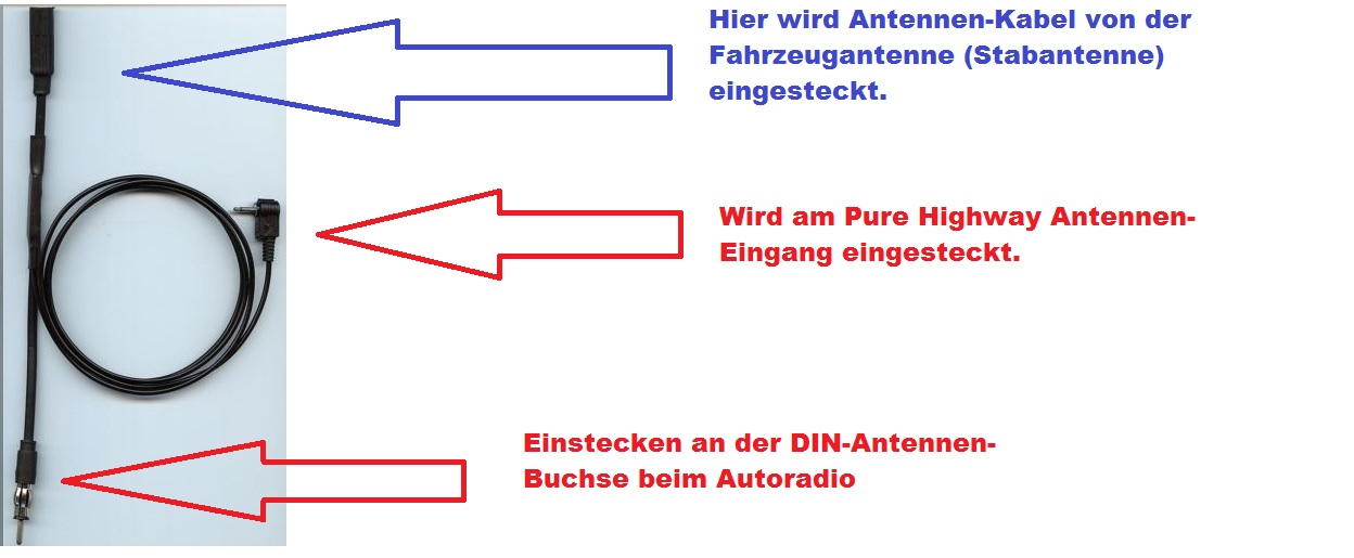 Antennenverzweigung Pure Highway mit Din-Antennenstecker
