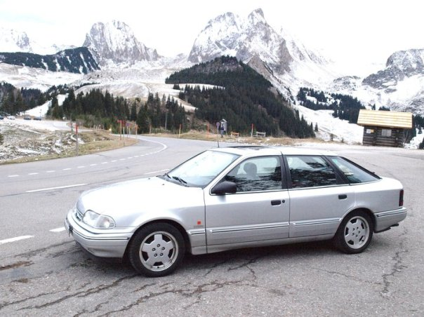 Ford Scorpio Cosworth Executive, Jg. 1992 auf dem Gurnigel